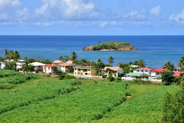 Die Halbinsel Caravelle , Die Halbinsel Caravelle auf Martinique , Martinique