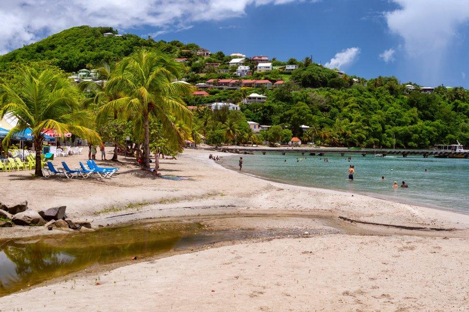 La presqu'île de la Caravelle , Plage de Tartane à la Caravelle , Martinique