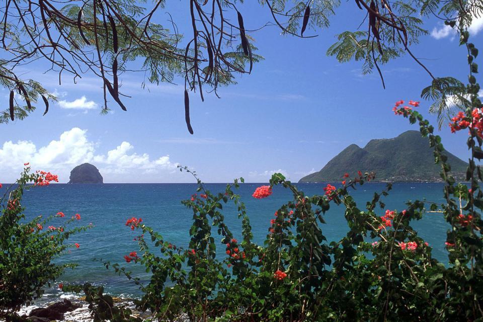 Le Rocher du Diamant , Le Diamant en catamaran , Martinique