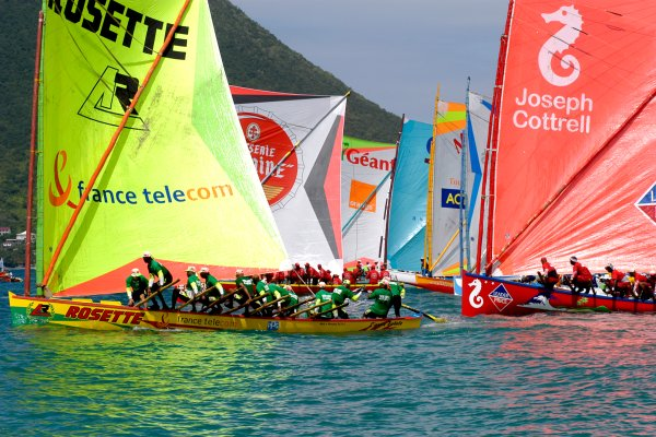 "The ""gommier"" or gum tree boat , The famous 'Yole' races , Martinique"