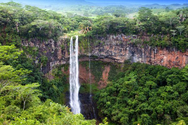 Les paysages, Chamarel, île, maurice, océan indien, afrique, cascade, chute d'eau