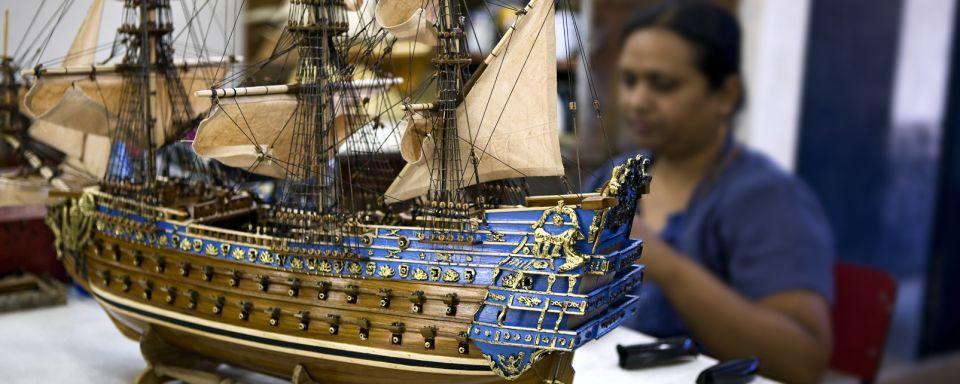 Les maquettes de bateaux