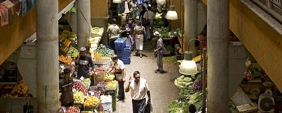 The markets, Mauritius