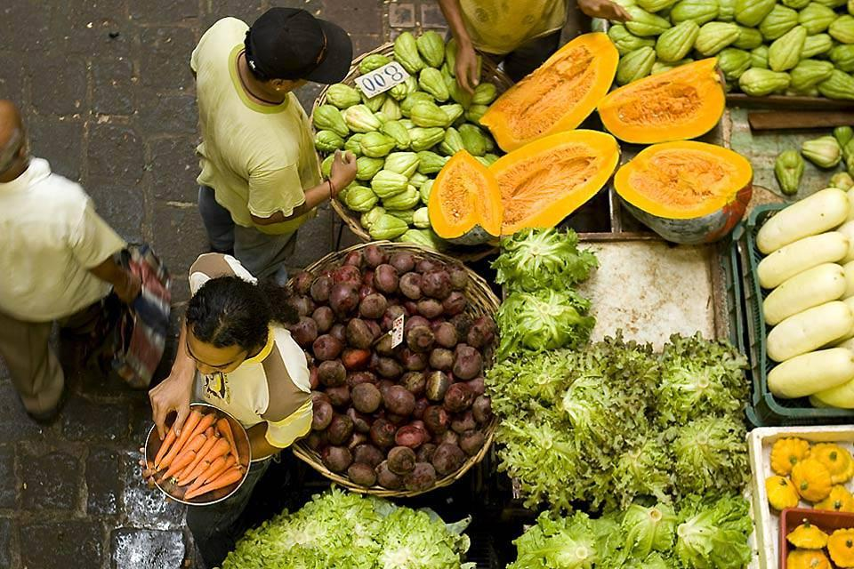 I mercati , Il mercato di Grand Baie , Isola Mauritius