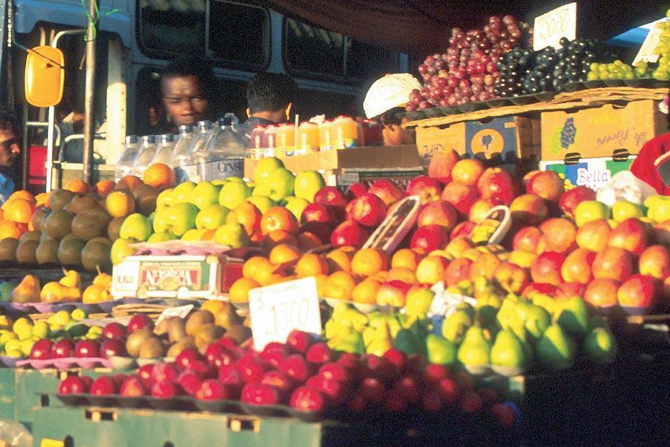 I mercati , Il mercato di Mahébourg , Isola Mauritius