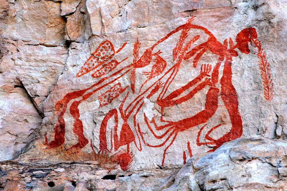 The Aborigines , The paintings at Kakadu National Park , Australia