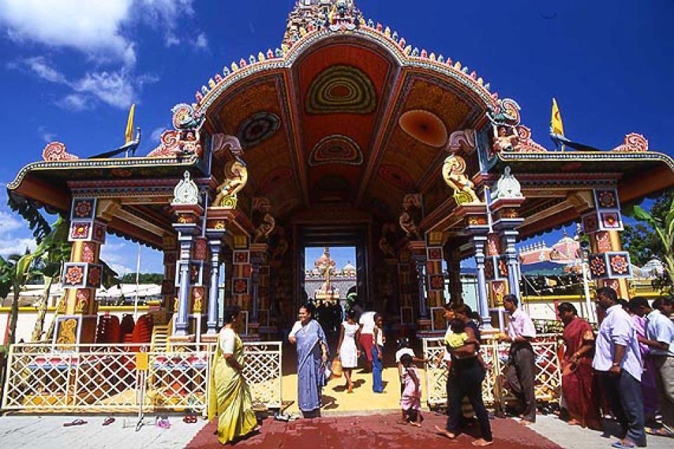 The Tamil temples , Temples, Mauritius , Mauritius