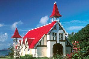 La iglesia de Cap Malheureux , Isla Mauricio