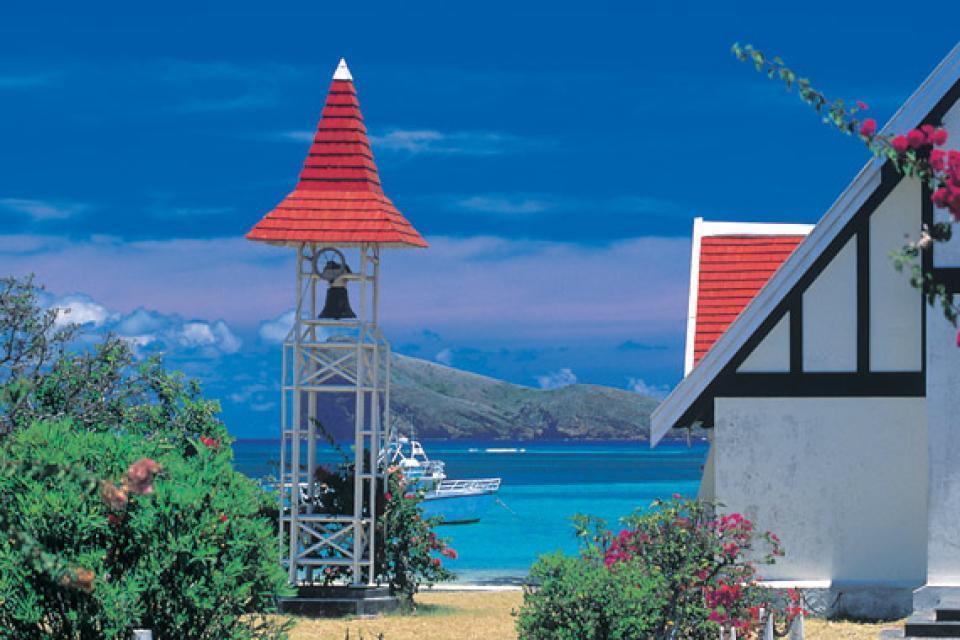 Cape Malheureux church , The view from Cap Malheureux, Mauritius , Mauritius