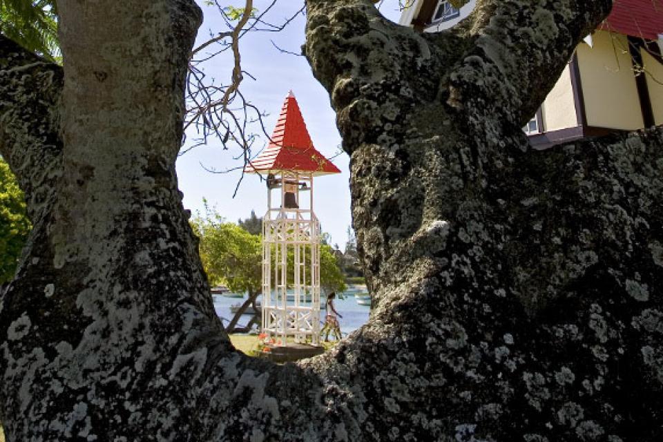Cape Malheureux church , The steeple of Cap Malheureux, Mauritius , Mauritius