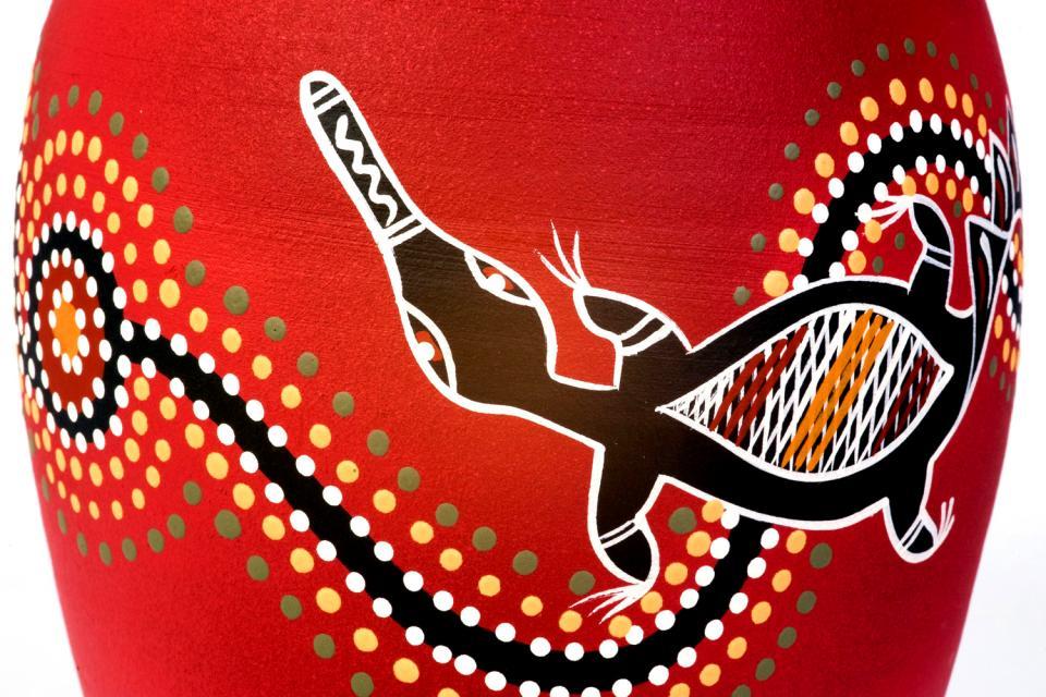 Les arts contemporains , Motifs aborigènes , Australie