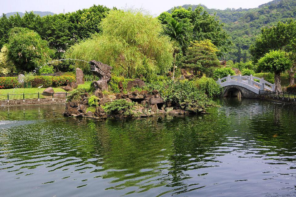 El museo Nacional del Palacio , Los jardines , Taiwán