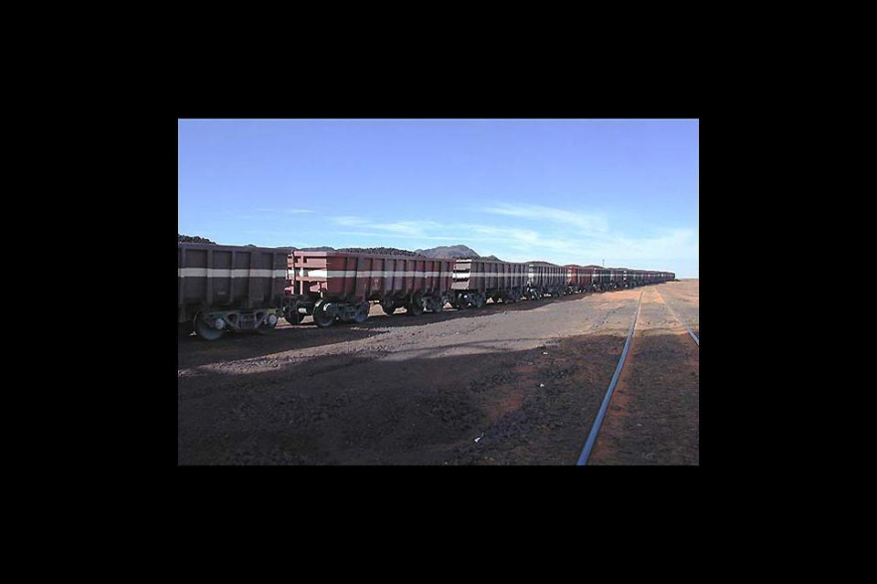 El tren mineralero , Los trenes mineros, Mauritania , Mauritania