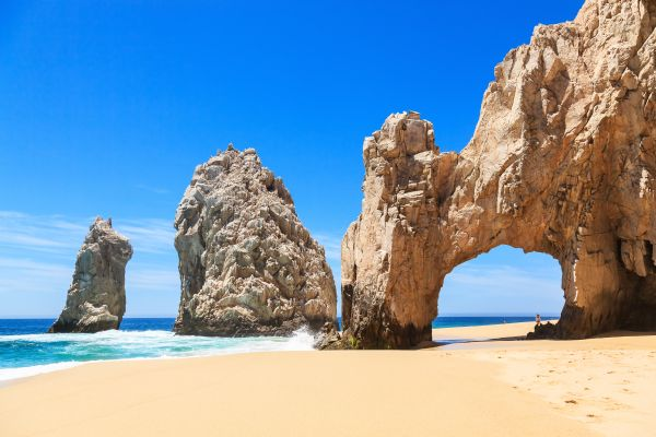 Typical landscape, Desert, mountains and white sand beaches., Landscapes, Baja California