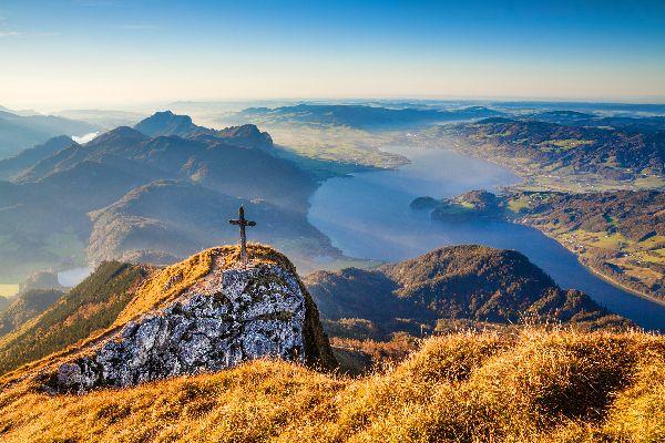 Das Salzkammergut , Die einzigartige Aussicht von den Berggipfeln , Österreich