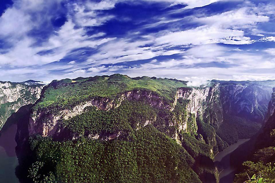 Las montañas de Chiapas , México