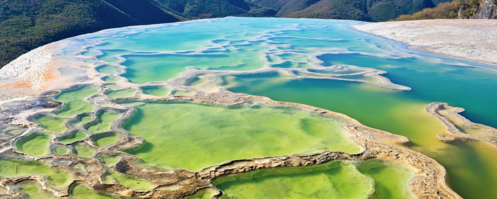 Los manantiales naturales, Los paisajes, México continental