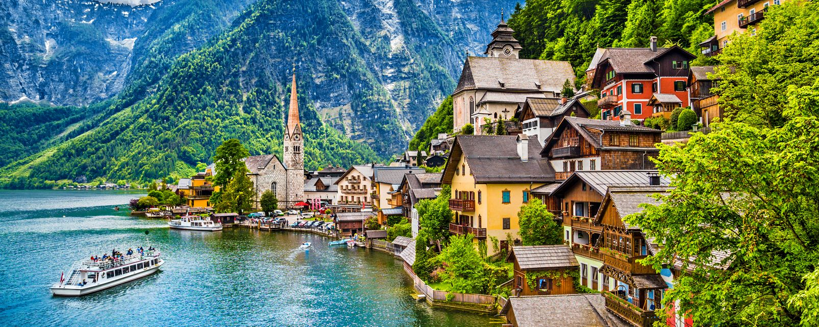 The Village Of Hallstatt Austria