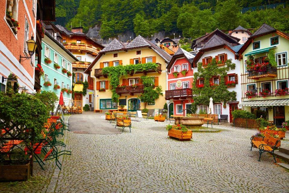 Das Dorf Hallstatt , Ein touristisches Dorf , Österreich