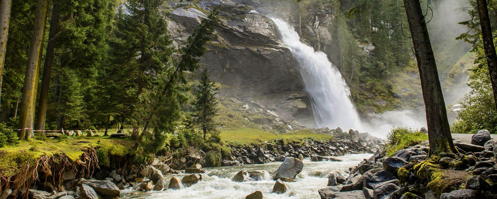 Die Krimml-Fälle , Die Wasserfälle in Krimml liegen im Zillertal , Österreich