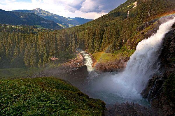 The Krimml waterfalls , The lower cascade , Austria