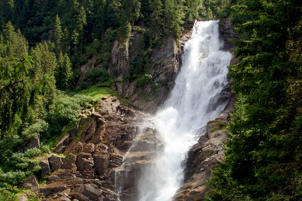 The Krimml waterfalls , The middle cascade , Austria