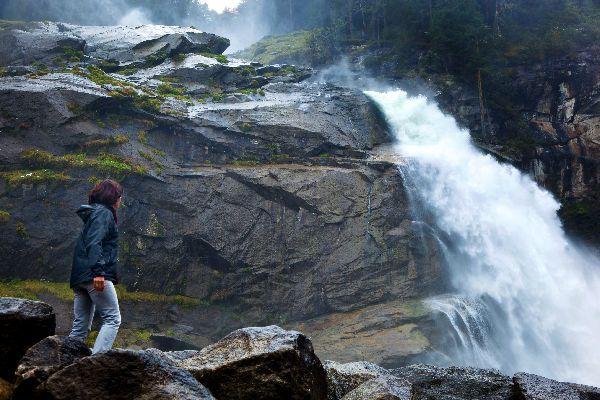 The Krimml waterfalls , An enchanting place , Austria