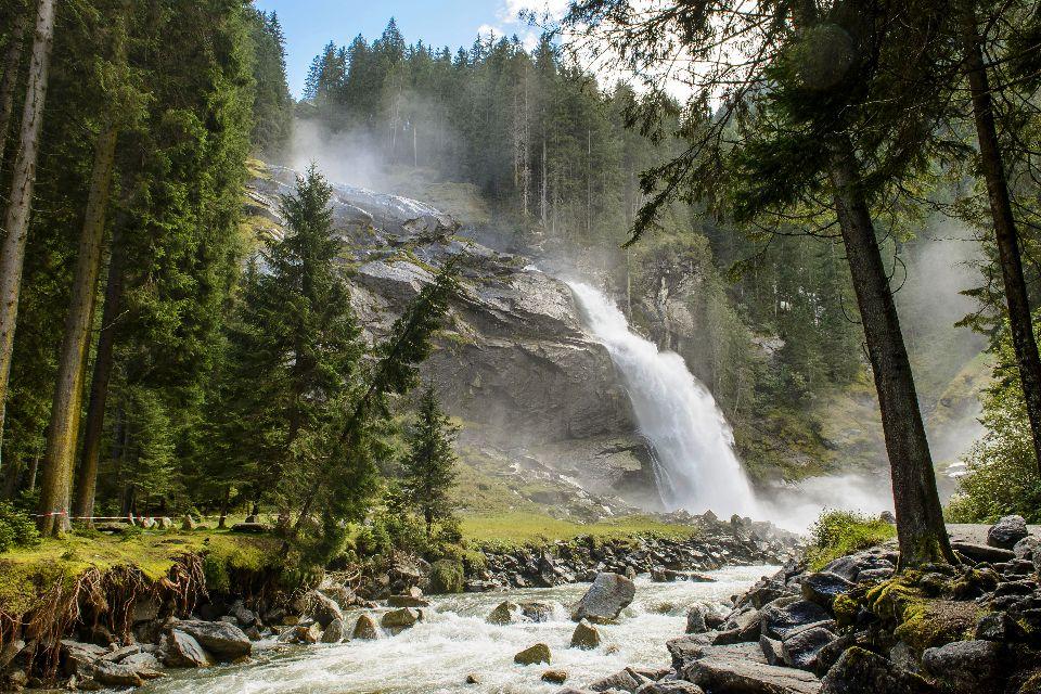Les chutes de Krimml , Autriche
