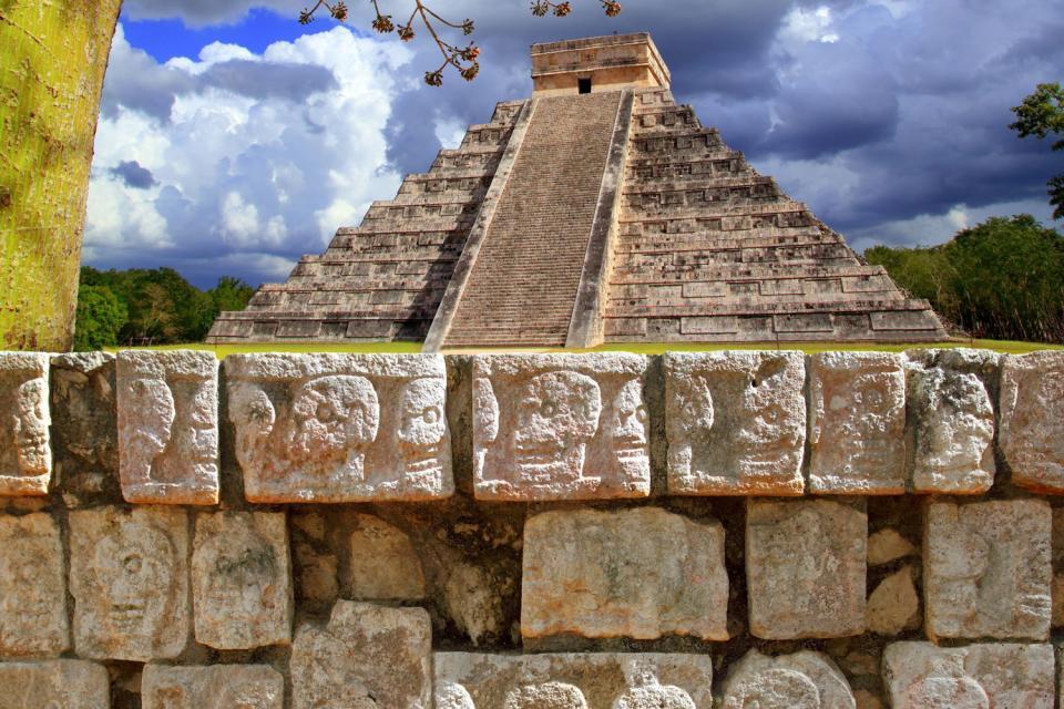 I siti archeologici di Chichen Itzá , Dettaglio di Chichen Itza , Messico