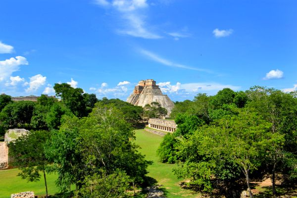 Uxmal, Messico, Uxmal, I siti, Merida, Messico Yucatán