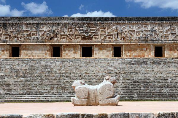 Il Quadrilatero delle Monache, Uxmal, I siti, Merida, Messico Yucatán