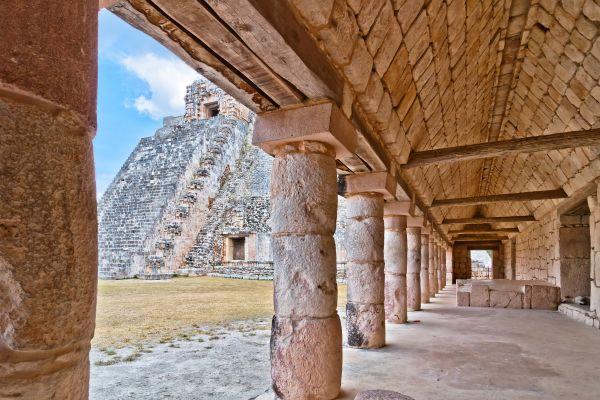 Piattaforma dei Giaguari, Uxmal, I siti, Merida, Messico Yucatán