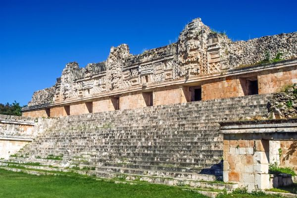 La piramide di Uxmal, Uxmal, I siti, Merida, Messico Yucatán