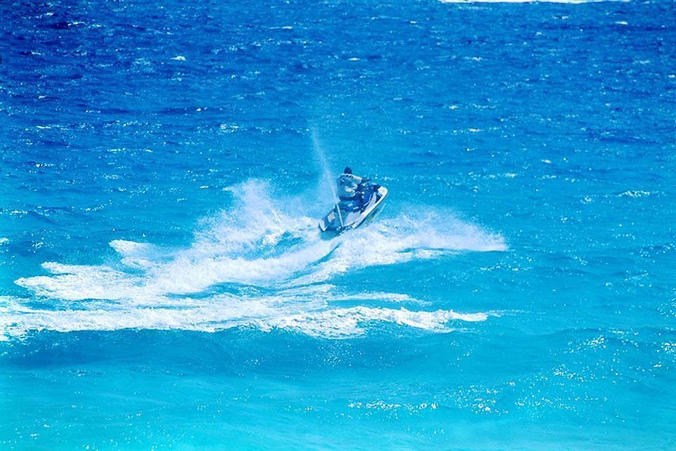 Le attività nautiche , Moto d'acqua, Yucatan , Messico