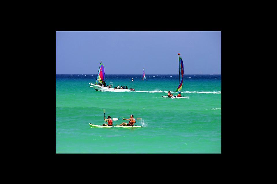 Le attività nautiche , Sport e turismo nello Yucatan , Messico
