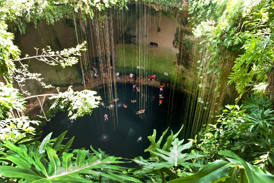 The cenotes , A cenote , Mexico