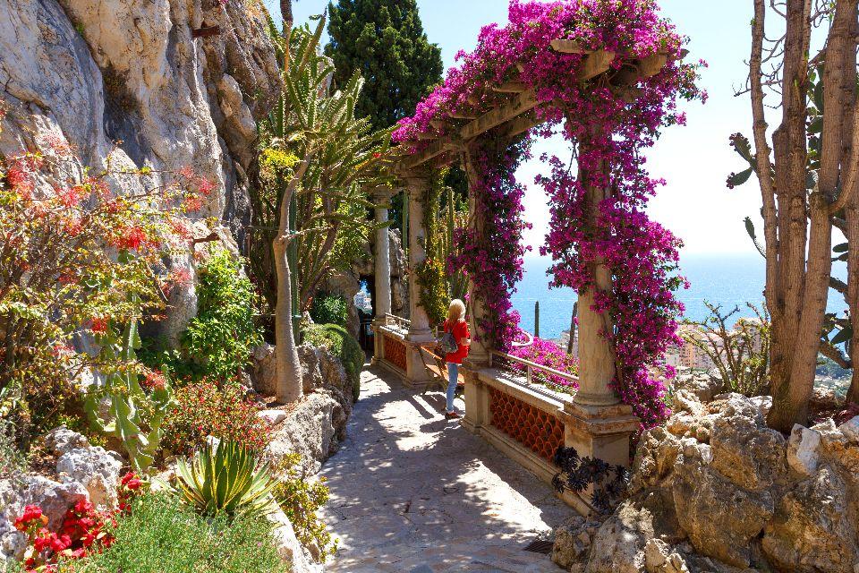 Der exotische Garten , Der botanische Garten von Monaco , Monaco