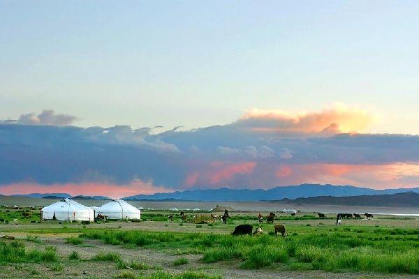 Die Steppen , Mongolei