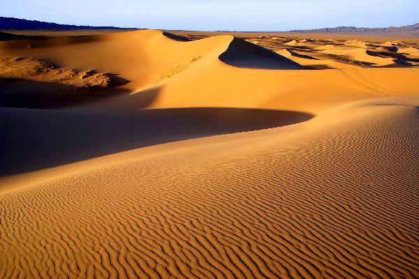 Die Wüste Gobi , Jurten in der Wüste Gobi , Mongolei