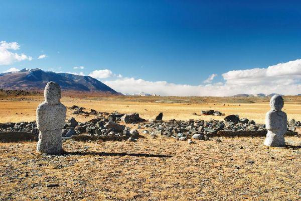 Die archäologischen Funde von Archangai , Arkhangai, Mongolei , Mongolei