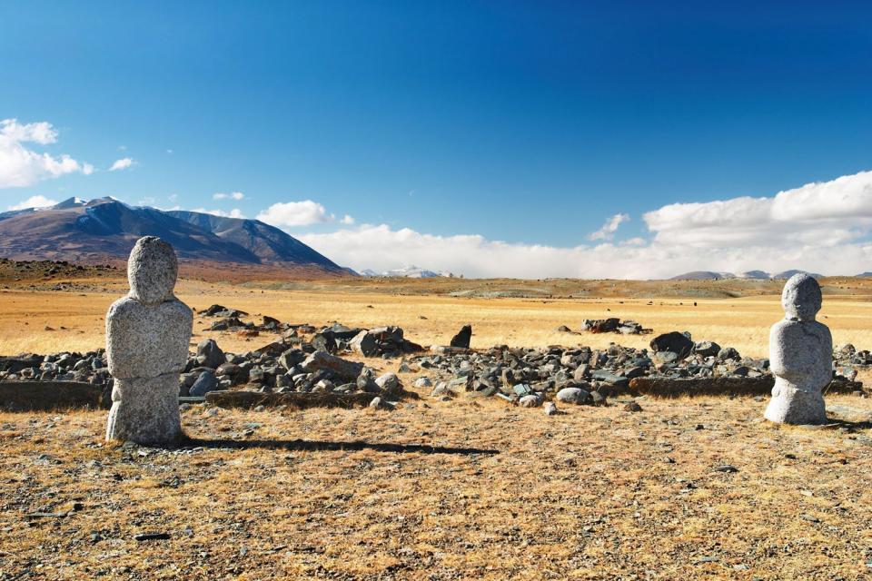 Les vestiges archéologiques de l'Arkhangaï , Arkhangaï, Mongolie , Mongolie
