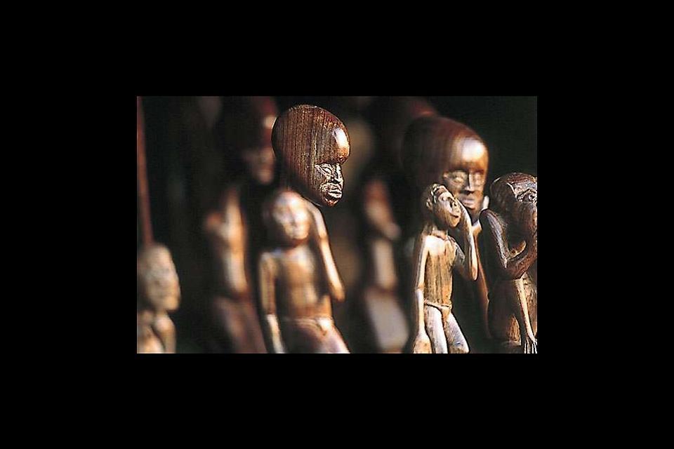 L'artisanat et la musique , Artisanat en bois du Mozambique , Mozambique