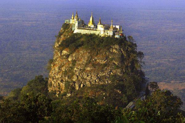 An old volcano, Mount Popa, Landscapes, Bagan, Myanmar