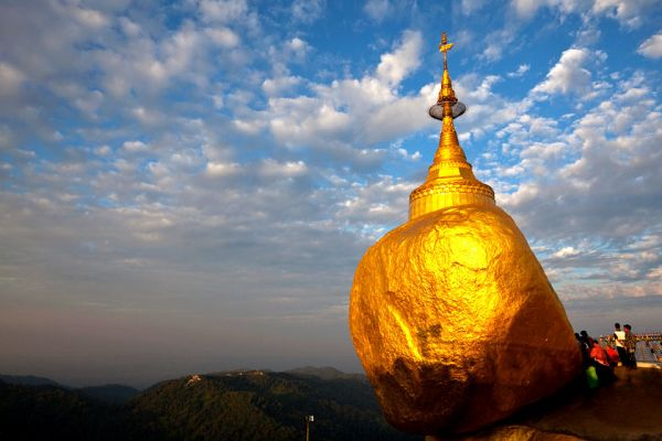 A rock-stupa, The Kyaikto, Landscapes, Yangon, Myanmar