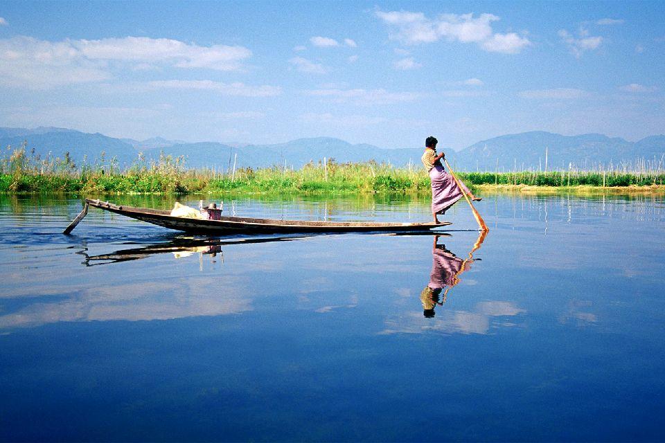 El lago Inle , Un viaje en el tiempo , Myanmar
