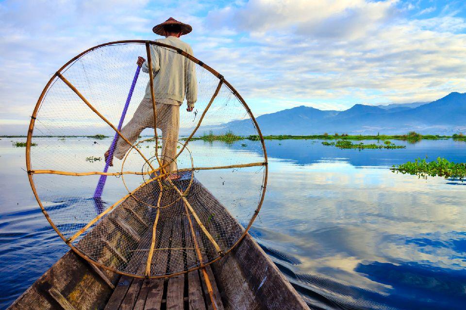 El lago Inle , Myanmar