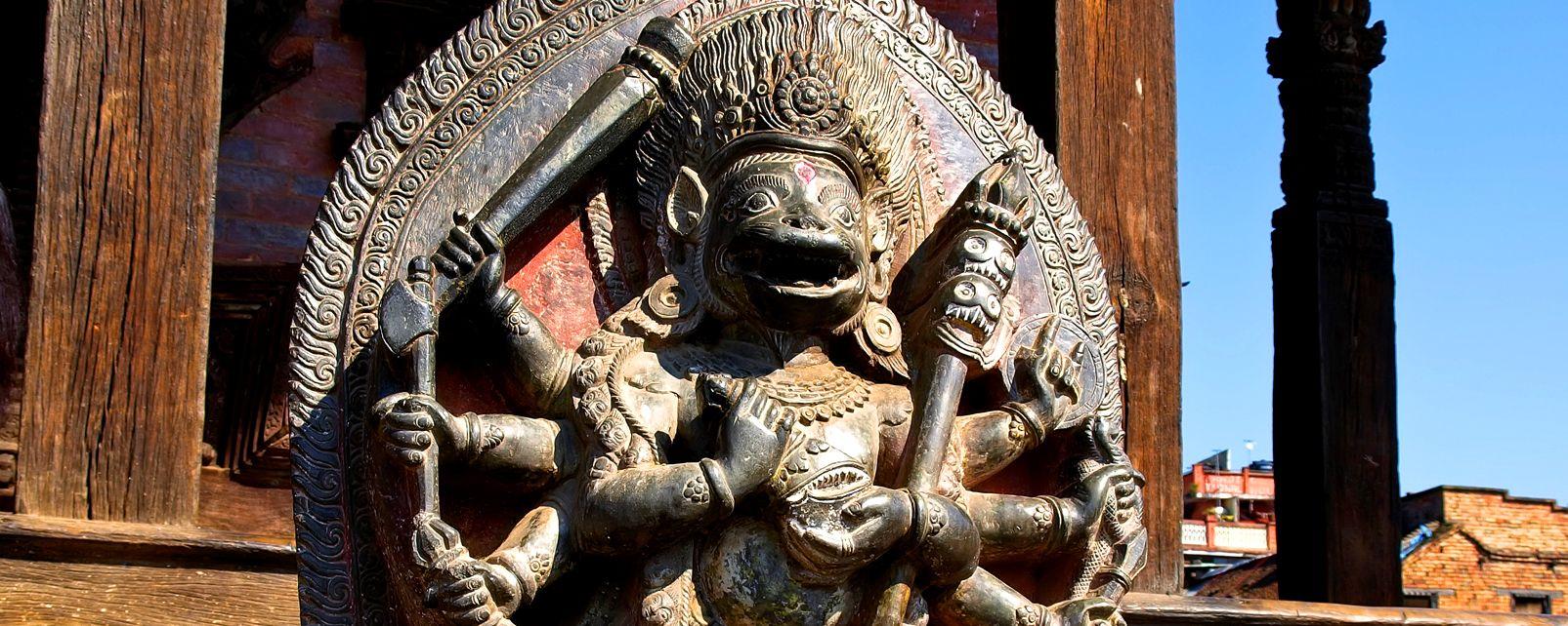 La sculpture , Kathmandu , Népal