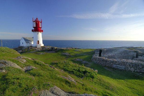 El sur , Paisaje natural en el sur de Noruega , Noruega