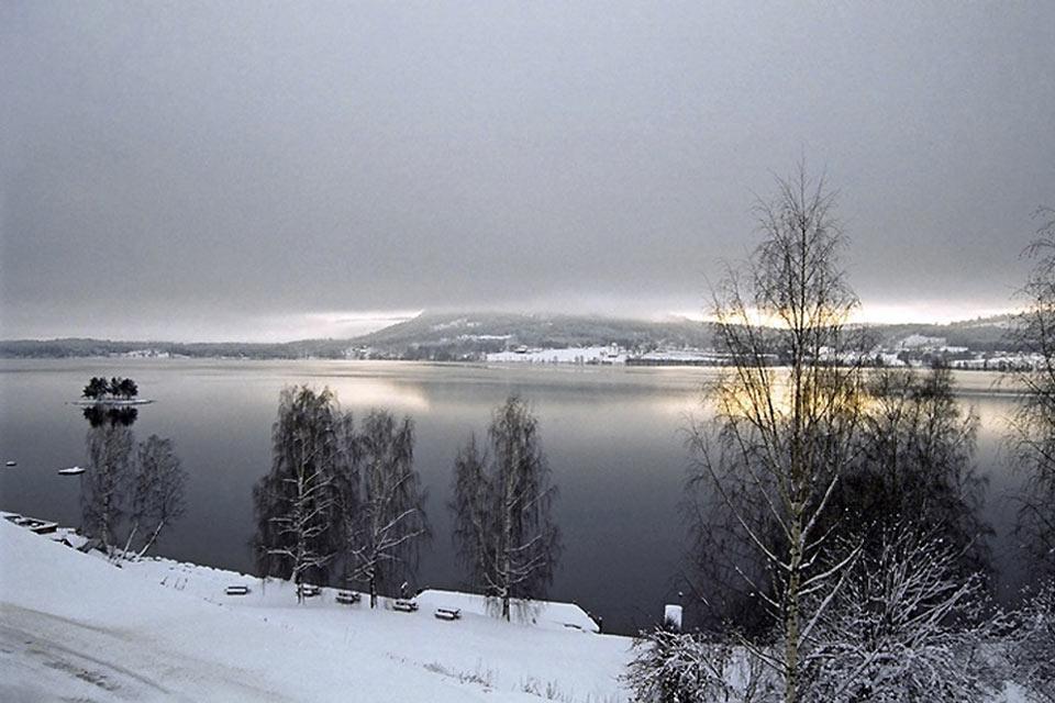 El sur , Paisaje de invierno en Noruega , Noruega