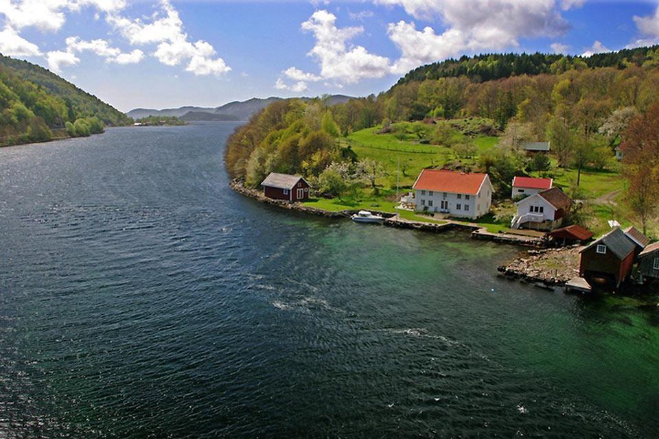 El sur , La naturaleza de los fiordos , Noruega